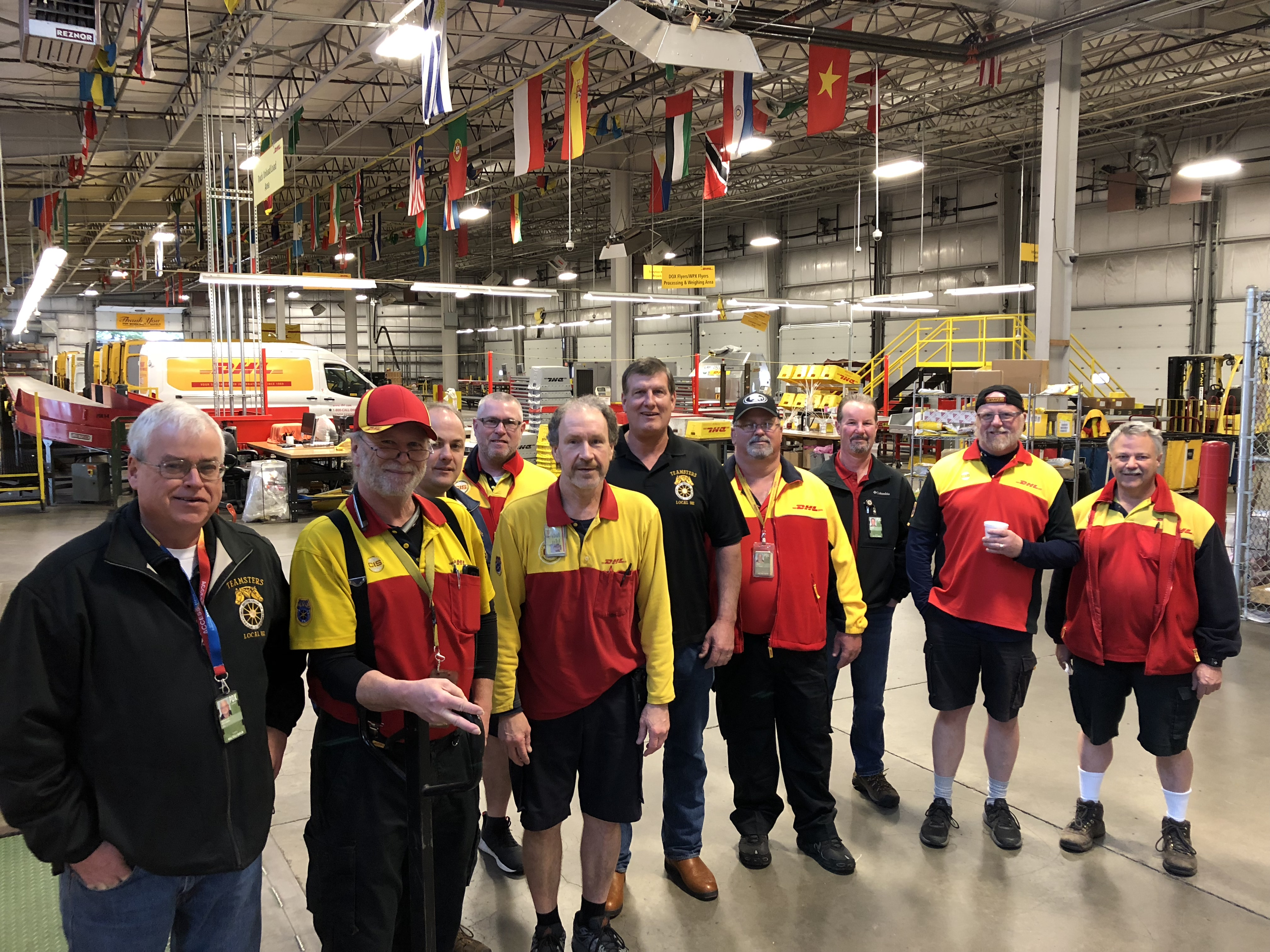 Local 162 Members at DHL Celebrate Contract Victory!